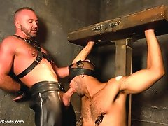 Josh West uses and abuses Leo Forte with his huge cock.