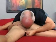 Some hot gay clips of mature gay Jake pleases a sexy hunk