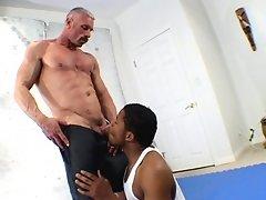 Young black athlete fucks his coach