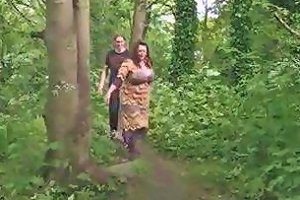 Fat Busty Brit Chick Rides A Prick In The Forest