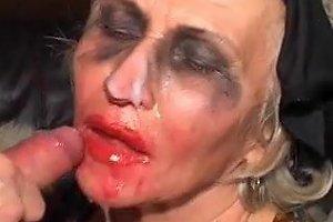 Granny Norma Face Fuck