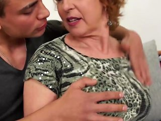 Hungry Granny Seduce Stupid Young Son