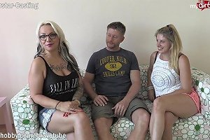 Homemade 2 Amateur Milfs Invited A Friend Over To Have Their First Threesome