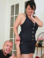 The horny, lusty fat girl really likes big cocks and he puts his balls deep in her pussy today
