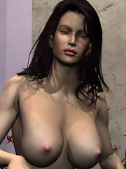 3D Bitch gets stripped and gets her pussy jizzed