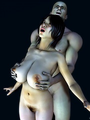 3D Tramp getting captured and played with rough
