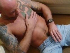 Tattoos, tattoos and a great cock to rock for you enjoyment. Watch him masturbates.