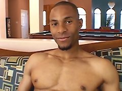 Stud jerks off and blows his load all over the place