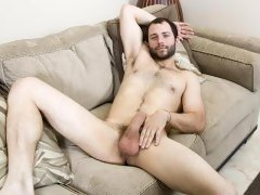 David Chase has a beautiful hairy chest, handsome features and nice big dick.  He also doesn't waste a drop of his cum.