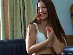 Long Haired Japanese Babe Is A Cock Milking Expert
