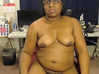 Hot Ebony Milf Workout Video