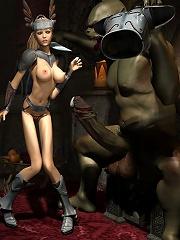 Poor 3D Elf Girl gets...