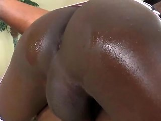 Ebony Shemale Makes Her Lover Squirt Hot Cum