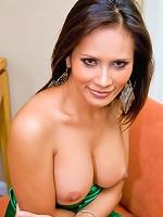 Shemale stunner Angie boasting her throbbing boner