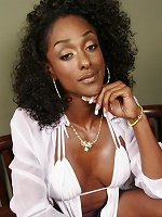 Horny black transsexual posing