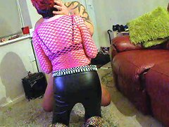 Pierced Nipples British Redhead In Pvc Pants And Boots