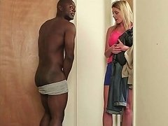 British CFNM Babes Tugging In Interracial FFM