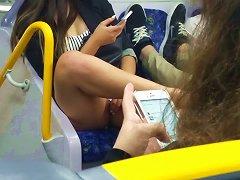 Australian Teen Upskirt On City Rail