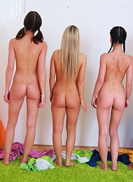 Cock-loving Little Caprice & Her Friends Perform Cool Footjob Teen Porn Pix