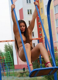 Teen Fatty Poses In The Pink In The Middle Of City Teen Porn Pix