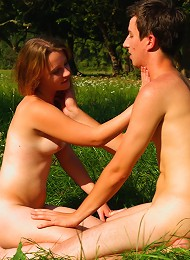 The Warm Sun And Soft Grass, Combine To Make This The Perfect Spot For An Outdoor Escapade. Soon, This Teen Cutie Has A Cock Pushing Deep Inside Of He Teen Porn Pix