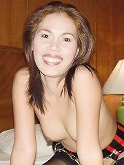 Shaved Thai slut pussy