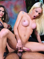 2 sweet & horny shemales in a hot threesome