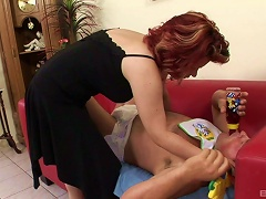 AnyPorn Video - Mommy Has To Help This Big Baby With Some Strap-on Pegging