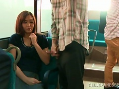 BravoTube Video - Curvy Babes Giving Massive Dick Stunning Blowjob In The Public Bus