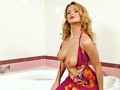 AnyPorn Video - Gorgeous Blonde Babe Is Having Fun In The Bathroom Any Porn