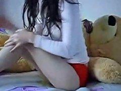 H2porn Video - Teen Rides A Teddybear