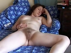 A Hairy Teen With A Nice Orgasm