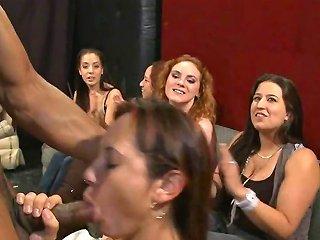 White Ladies Sucking A Black Stripper And Seeing Him Dance