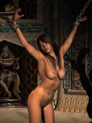 Virgin 3D Nymph with great toy getting naked
