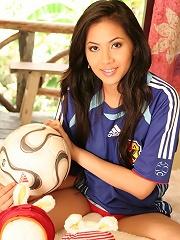 Breasty Teen Christy Hun Japan World Cup Strip